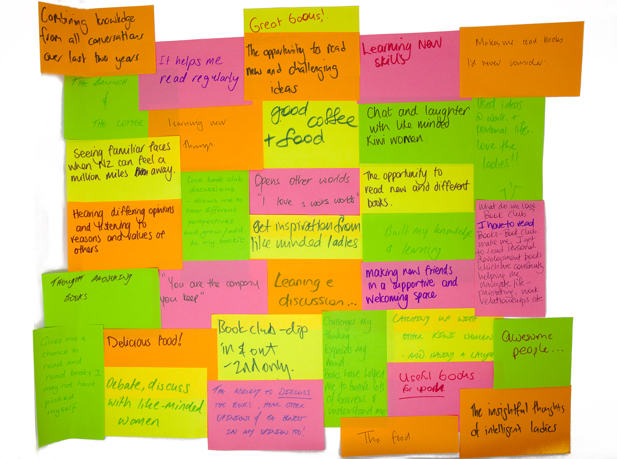 book club post it notes